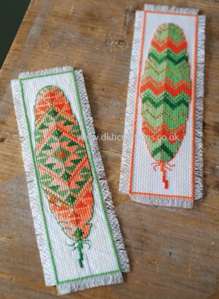 Feathers Bookmarks Cross Stitch Kit